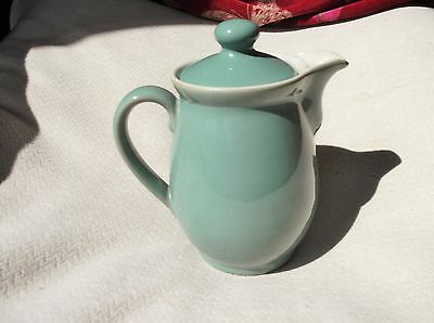 Vintage Green Denby Stoneware Coffee Pot & Lid  1 Pint Great Condition