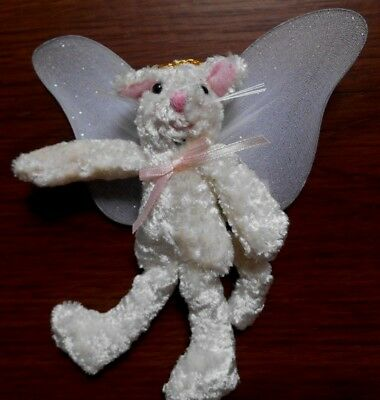 WHITE Kitty CAT ANGEL Plush Christmas Ornament In Memory of Pet Oriental Trading