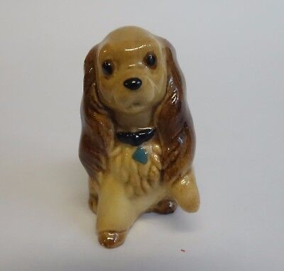 Hagen Renaker Vintage COCKER SPANIEL Dog Miniature Figurine BLUE TAG & Collar