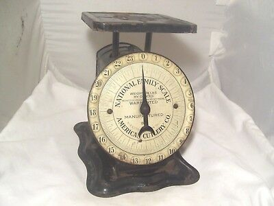 Nice Old 24 Lb. Scale Marked 'national Family Scale' Patented Oct. 29, 1912