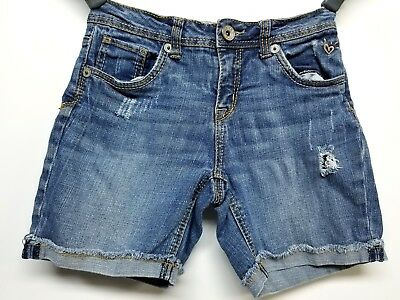 Justice Jeans Simply Low Distressed  Jean Shorts For Girls Size 12R