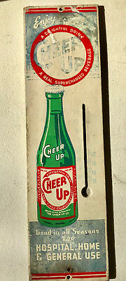 1940's CHEER UP Soda Pop Advertising Thermometer