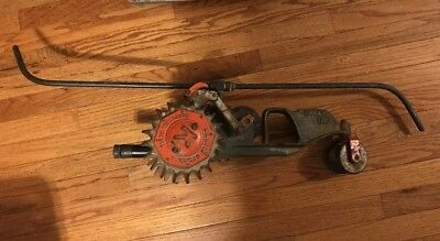 Old Vintage F. D. Kees Cast Iron Traveling Tractor Sprinkler Rare Model 102
