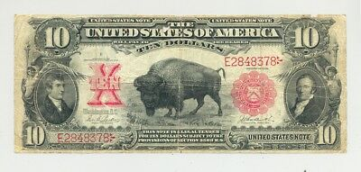 $10 1901 Bison United States Note a very popular type higher grade/bright colors