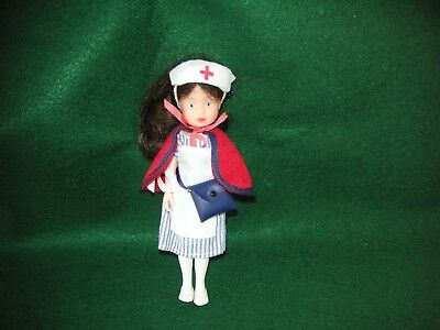 Pleasant Company Molly's Red Cross Nurse Doll. 6 3/4 inch tall. Complete. VGC.