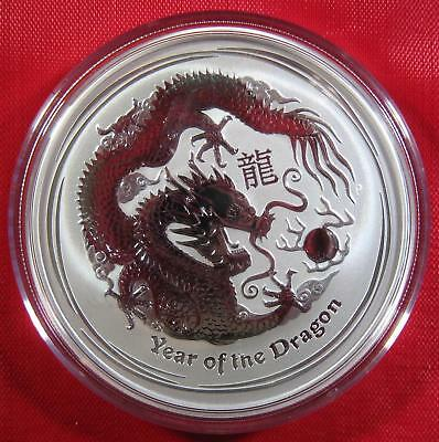 "2012 Silver .999 2 OZ. Australia $2 ""YEAR OF THE DRAGON""  Proof-Like RARE FIND!"