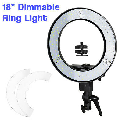 "18"" Photography Studio Dimmable Adjustable Photo Video LED Ring Light 5500K"