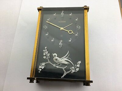 VINTAGE  JAEGER LECOULTRE 8 DAY MUSICAL ALARM CLOCK  for parts.