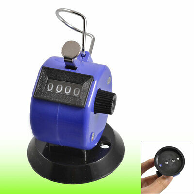 Golf Pitch 4 Digit Number Clicker Hand Held Tally Counter Black Blue