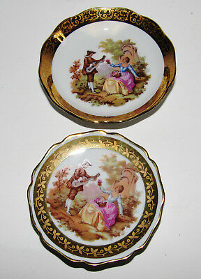 2 Limoges France Romance Plate And Tray