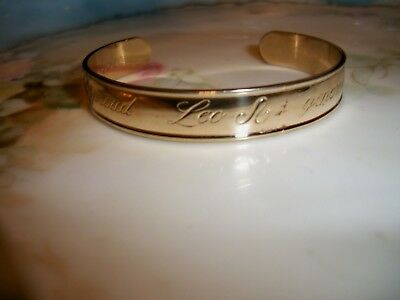 "AVON 1979 ""Star Signs"" -- Leo -- Cuff Bracelet - Astrology / Zodiac Goldtone"