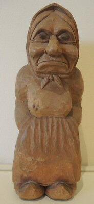 Rare early 20th Century Unique Thomas Dam Hand Carved Wooden Gjol Troll Denmark