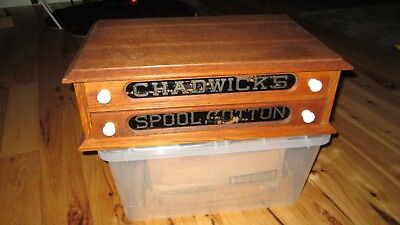 Chadwick's Spool Cabinet-2 Drawer-Lettering on Glass