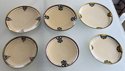 Antique6 Pieces KPM Silesia Lunch Dessert  Plates-3 Sets Of Two Matching Plates