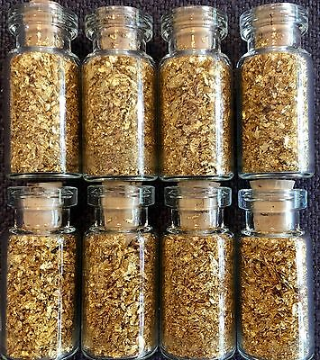 8 Large Bottles of Gold Leaf Flakes ..... Lowest price online !!