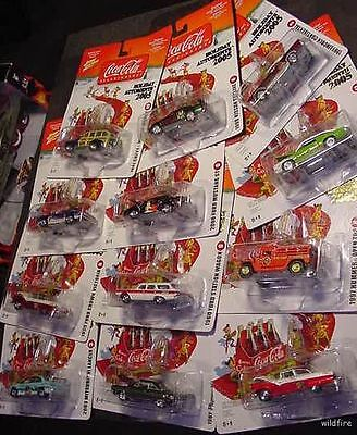 CoKE CoCA COLA WHOLESALE LOT SET CAR AUTO XMAS ORNAMENT mustang ford gm chevy D