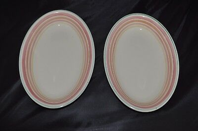 2 Susie Cooper Grays Pottery Oval Bowls   c1933