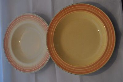 """2 Susie Cooper Grays Pottery 9"""" Bowls"""