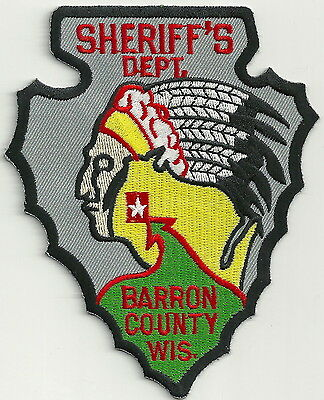 Barron County Sheriff Wisconsin Police Patch Indian