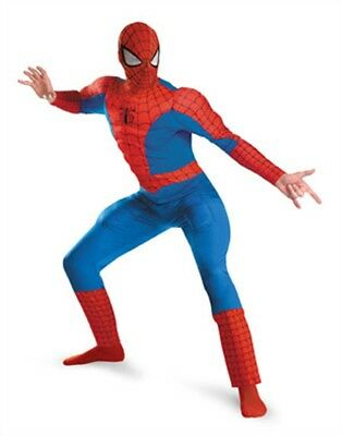 Adult Marvel Spider-Man Deluxe Muscle Chest Costume Plus Size 50-52