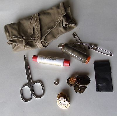 Italian Military Surplus Sewing Kit Un-Issued Pouch With Contents