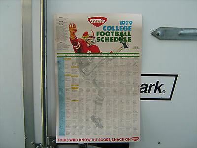 1979  Toms Peanuts Advertising College Football Schedule