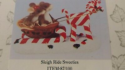 Nib Fitz And Floyd Charming Tails Sleigh Ride Sweeties Nice Excellent