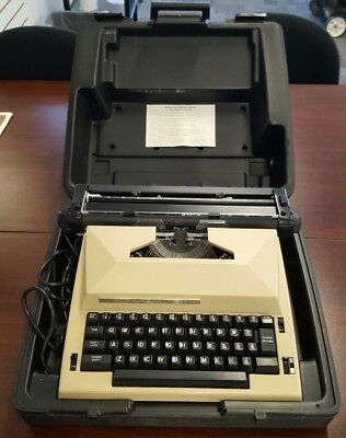 Vintage Electric Typewriter Sears The Scholar with Correction + Hard Carry Case!