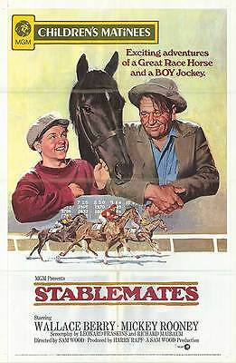 STABLEMATES original MGM HORSE RACING movie poster MICKEY ROONEY/WALLACE BEERY