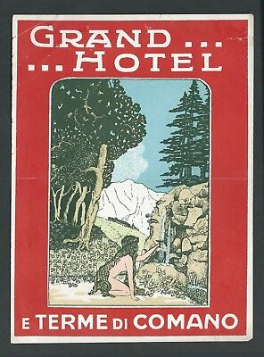 Grand Hotel TERME DI COMANO Italy - vintage luggage label – large version