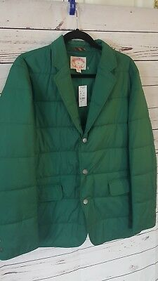 New w/ tags Brooks Brothers Men's Jacket Large L green quilted coat
