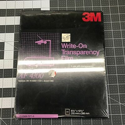 Write-on TRANSPARENCY FILM AF4300 SEALED 3M 100 sheets