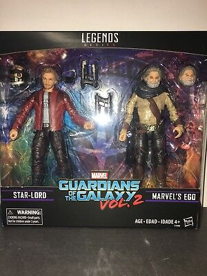 "Marvel Legends 6"" Guardians of the Galaxy Vol 2 Star-Lord and Ego 2 Pack NEW"