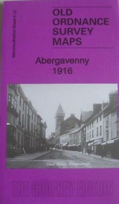 Old Ordnance Survey Maps Abergavenny Monmouthshire  1916 Godfrey Edition New