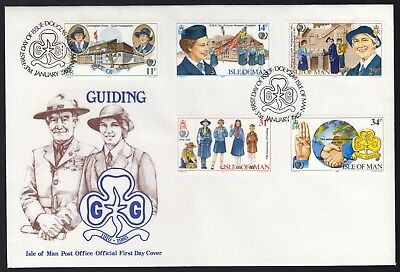 Isle of Man 1982 FDC 75th Anniversary of Girl Guide Movement