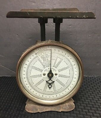 1900S Vintage Postal Scale *pelouze Mfg Co* Chicago Mail & Express Letters Rare