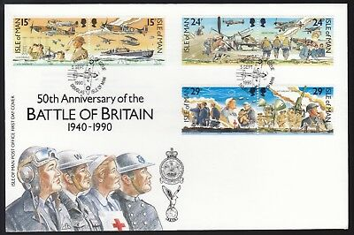 Isle of Man 1990 FDC 50th Anniversary of the Battle of Britain