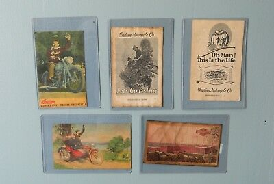 Five Reproduction Motorcycle Postcards