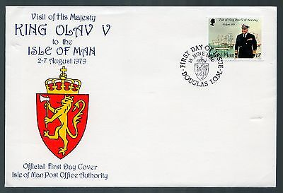 Isle of Man 1980 FDC Visit of King Olaf V of Norway to IOM - Royalty Theme
