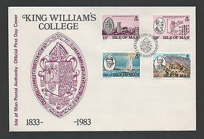 Isle of Man 1983 FDC 150th Anniversary of King William's College