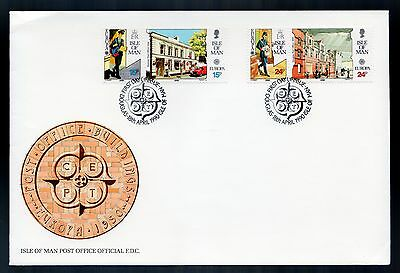 Isle of Man 1990 FDC Europa Post Office Buildings - Architecture Theme