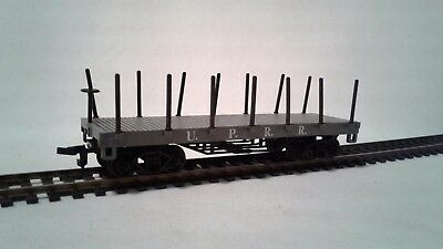 Ho Scale Bachmann Union Pacific  Old Time Flat Car With Stakes  New Old Stock