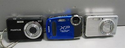Lot of 3 FujiFilm Digital Point and Shoot Cameras-Tested Working