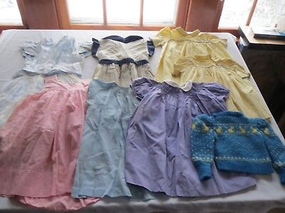 Lot 8 Vtg Clothes Early 1950s Girls & Toddlers Dresses ~JIBBY, BENOIT', +++
