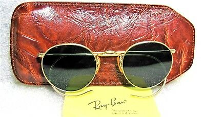 Vintage *NOS Ray-Ban USA 1950s Rare Bausch & Lomb 12k Gold Filled New Sunglasses