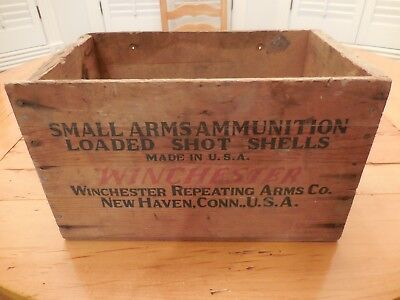 Vintage Winchester 12 GA. 2-3/4  Wooden Ammo Box