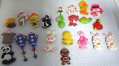 LOT OF 22 VINTAGE 1970s AVON KIDS GLACE PINS FOR CHILDREN