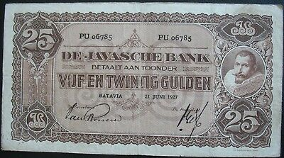 Netherlands Indies 1927 25 Gulden Note
