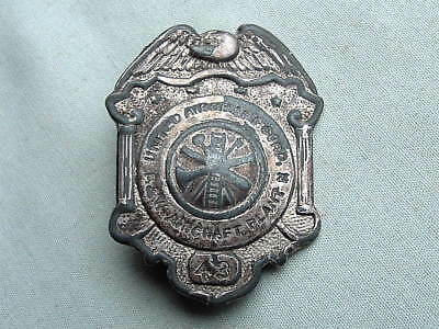 Antique United Aircraft Corp. Pratt And Whitney Security Or Police Type Badge