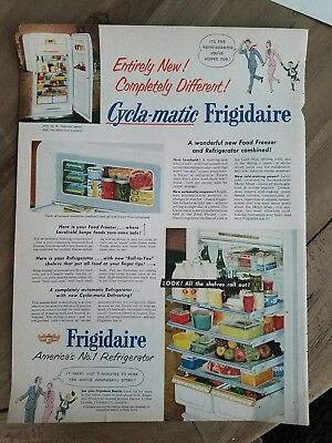 1952 America's number one refrigerator Pyrex refrigerator dishes ad